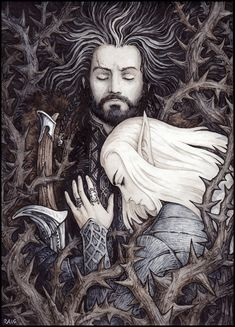 In the depths of Erebor by Candra on DeviantArt - Every eve of May the 1st (according to human calendars) Thranduil gives over his reign to Celeborn and leaves to the depths of Erebor. There he sleeps on Thranduil's grave till the eve of November the 1st.