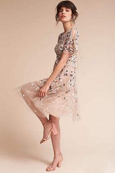 Love this dress! Anthropologie Bobbi Wedding Guest Dress #anthropologie #anthrofave #anthrohome #dress #dresses #wedding #ad