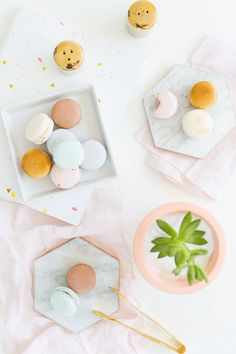 DIY gilded marble hexagon serving boards for under $5 | sugar & cloth