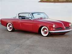 """1953-1954 Studebaker Starliner.  A classic Raymond Loewy coupe.  Loewy was the """"Father of Industrial Design"""" and designed everything from locomotives to god-knows what."""