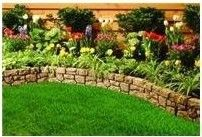Stone flower beds borders luxury garden edging ideas of bed pavers river Landscape Edging, Garden Edging, Garden Borders, Lawn And Garden, Garden Shrubs, Landscape Designs, Shade Garden, Garden Beds, Bamboo Landscape