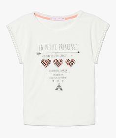 Tee-shirt imprimé Ecru