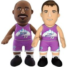 """Bleacher Creatures Dynamic Duo 10"""" Plush Figures, Jazz Stockton and Malone"""