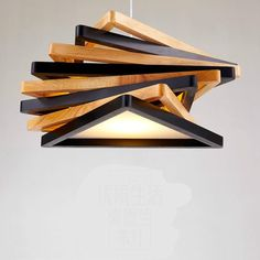 Modern Nordic Hand Crafted Oak Wood Art Led Pendnat Light For Restaurant Living Room Dining Room Children's Room Deco 2233 Office Interior Design, Home Interior, Study Lamps, Diy Lampe, Farmhouse Pendant Lighting, Lampe Decoration, Wooden Lamp, Lamp Design, Wood Art