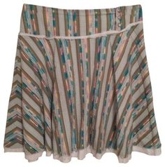 Free People Skirt Green Multi - size 8