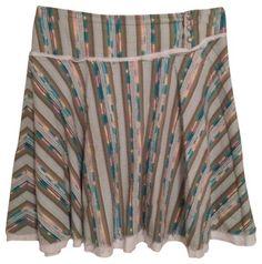 Free People Skirt Green Multi - size 8