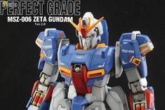PG Zeta Gundam - Customized Build Modeled by Jon-K Perfect Grade, Zeta Gundam, Gundam Model, Mobile Suit, Models, Building, Weapons, Templates, Weapons Guns
