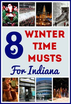8 Winter Time Musts for Indiana - Lighting of the Christmas Tree, Toboggan Run, Hockey, Winter shows, and more!