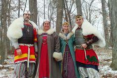 Midrealm Royal Family, Christmas 2008, via Flickr.