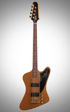 Gibson Limited Edition 50th Anniversary Thunderbird Bass Guitar: The neck-thru body and beastly T-Bird Plus humbuckers pack this 50th anniversary model full of rich and thick electric bass tone.