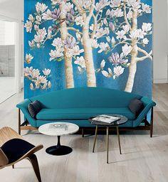 3D Magnolia Tree 933 View Wallpaper Mural Wall Print Decal