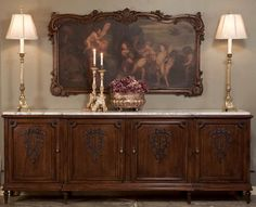 Antique French Louis XVI Walnut Grand Buffet | Antique Furniture | Inessa Stewart's Antiques