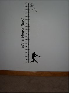 Child's Vinyl baseball growth chartBuy 2 get 1 by jkvinyldesigns