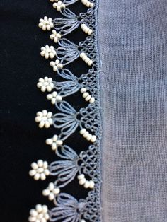 This Pin was discovered by Ayt Bead Crochet, Crochet Motif, Crochet Lace, Embroidery Stitches Tutorial, Embroidery Patterns, Crochet Borders, Bobbin Lace, Cotton Crochet, Crochet Projects