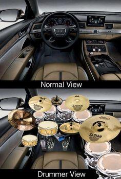 Hahaha drummer view