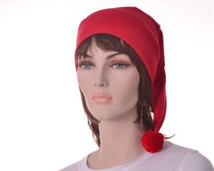 Smee Hat Pirates Mate Hat Red Stocking Cap Red by MountainGoth, $24.00