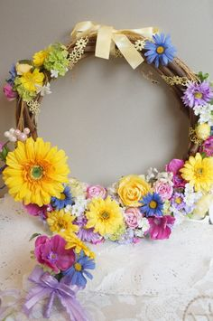 リースブーケ ラプンチェル │リースブーケ アーティフィシャルフラワー Cool Diy Projects, Crafty Projects, Rapunzel, Wedding Photos, Floral Wreath, Bouquet, Wreaths, Fun Diy, Photo Ideas