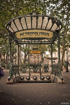 Abessess Metro stop - Montmarte, Paris