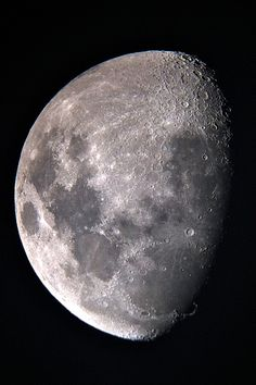 It was my first time seeing the Moon through my telescope...