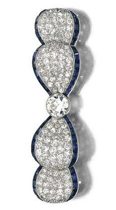 Gorgeous Round Blue Baguette Art deco Style Brooch Women 925 sterling silver Cz* #NIKIGems