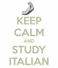 keep calm & study Italian Italian Humor, Italian Quotes, Keep Calm Signs, Keep Calm Quotes, Keep Calm And Study, Italian Lessons, Italian Language, Learning Italian, Motivational Posters