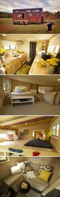 The Z-Huis by Wishbone Tiny Homes is a 204 sq.ft. tiny house on wheels with two…