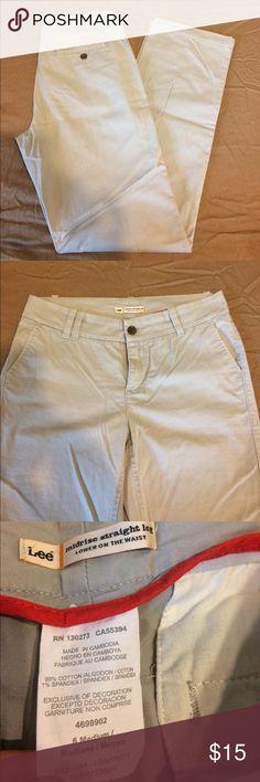 Grey straight leg pants Lee straight leg pants 👖 Lee Pants Straight Leg