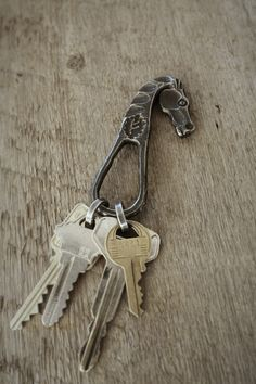Forged horse head keyring. Your mama wouldn't fuss about you making her one of these