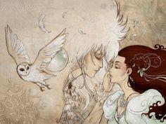 "Poster ""As the world falls down"" (Illustration, Art, Comic, Print, Labyrinth… David Bowie Labyrinth, Labyrinth Film, Jim Henson Labyrinth, Goblin King, Labyrinth Tattoo, Fantasy Movies, Fantasy Art, Fan Art, Movie Posters"