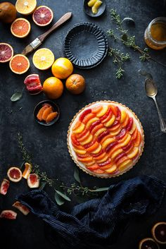 Lemon & Vanilla Cream Citrus Tart (gf, paleo, vegan friendly) - The Kitchen McCabe