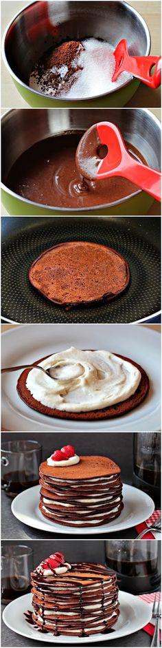 How To Make Chocolate Pancake Cake   Food Blog