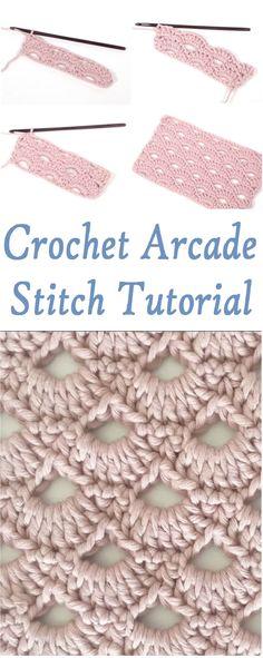 Crochet Arcade Stitch Tutorial