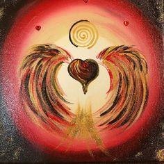 """Heute zu Abend schicke ich Euch den neuen empfangenen Herzengel """"Intensive Erdung"""" mit der Botschaft: """"Erde Dich mit den Dingen und Unternehmungen, die Dir ein Lächeln ins Gesicht zaubern.... ❤️❤️❤️""""  Herzlichst Carmen   Bild/Quelle: by Carmen-Art Love&Happiness Painting www.herzoase.com"""