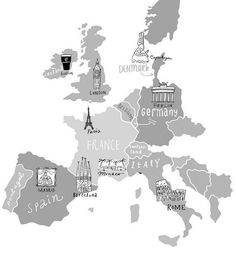 Love this map of #Europe! Where would you love to travel next? (Thanks for pinning, @stubbsr)