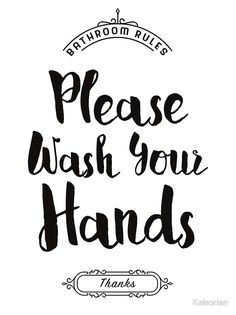 printable bathroom sign. Contemporary Printable U0027Please Wash Your Hands Hand Washing Posteru0027 Framed Print By Kelsorian Inside Printable Bathroom Sign T