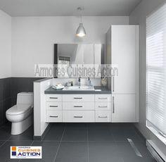 Salle de bain armoire meuble vanit r novation de salle de bain qu bec - Armoire salle de bain blanc ...