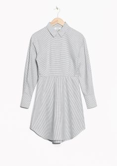 & Other Stories image 2 of Striped Shirt Dress in White