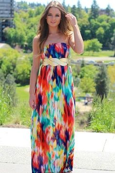 Stylish Mod Vintage Maxi Dress