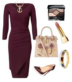 """Sophisticated Elegance"" by arta13 on Polyvore featuring La Petite Robe di Chiara Boni, Christian Louboutin, Dolce&Gabbana, Pomellato, Yves Saint Laurent and Christian Dior"