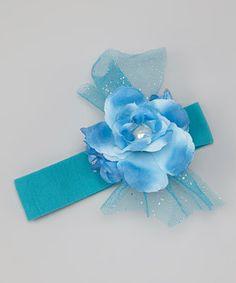 Loving this chéri by Bébé Oh La La Blue Flower Headband on #zulily! #zulilyfinds