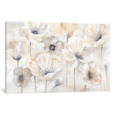 """Shop for iCanvas """"Gray Poppy Garden Landscape"""" by Cynthia Coulter. Get free delivery On EVERYTHING* Overstock - Your Online Art Gallery Store! Canvas Wall Decor, Canvas Artwork, Canvas Frame, Canvas Art Prints, Free Canvas, Canvas Fabric, Online Art Gallery, Fine Art Paper, Graphic Art"""