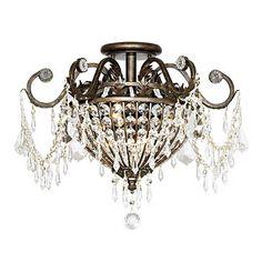 "Crystorama Parisian 19"" Wide Ceiling Light Fixture - #21736 | Lamps Plus"