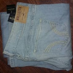 Hollister jeans Hollister light colored,  slightly distressed boot cut jeans. New with tags. Very soft! Hollister Jeans Boot Cut