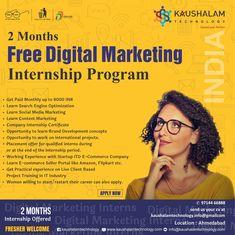 Introduction about Digital Marketing Internship Program: We are seeking 360 degree Digital Marketing Int.