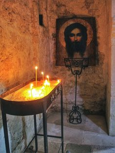 Icon of Christ in Armenian monastery. Crimea, Ukraine.