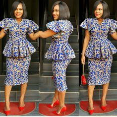 Best Stylish Ankara Styles for Church 2019 - ESTHER ADENIYI African Print Dresses, African Fashion Dresses, African Dress, Ankara Fashion, Ankara Skirt And Blouse, Ankara Dress, Outfit Essentials, African Attire, African Wear