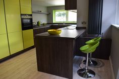 Colourful lime green kitchen design from Newcastle Kitchen and Bedroom Company. Furniture, Beautiful Kitchens, Kitchen Colors, Kitchens And Bedrooms, Home Decor, Green Kitchen Designs, Kitchen Showroom, Bedroom, Kitchen Design