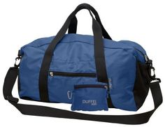 ChicoBag Duffel (Recycled Plastic) - Lightweight Collapsible Weekender Bag (Sapphire) by ChicoBag. $29.99. Bag unstuffs from attached pouch to a full-size 1601 CU IN (26L) Duffel Bag. Made of lightweight recycled PET ripstop fabric and features an integrated zipper pouch as well as adjustable shoulder strap. Weight of 9.9 oz. Made with certified fair labor and is constructed of post-consumer recycled content. Machine wash cold and hang to dry. The Duffel rePETe is perfect...