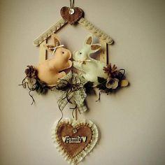 Easter Crafts, Bunny, Wreaths, Decor, Bunnies, Garland, Handmade Crafts, Throw Pillows, Diy
