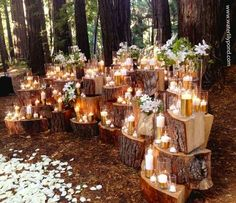 wedding altars with log stumps - Google Search